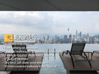 Condo 5 mins. walk to KL Sentral-TSR1B-ACROPOLIS