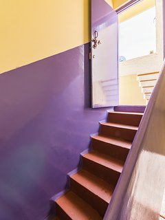Stairs to the terrace home