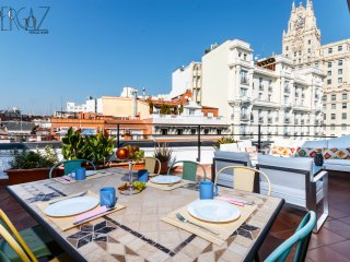 Gran Via with a sunny terrace