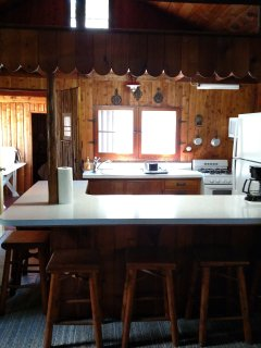 View of Kitchen-has view of lake