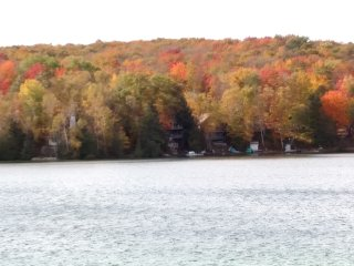 Log Cottage on Blue Lake-fall has arrived!!