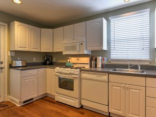 The in-unit laundry machines are also located in the kitchen.
