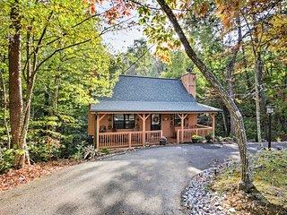 Quiet Hillside 1BR+ 'Autumn Leaf' Cabin w/Hot Tub!