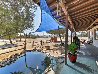 NEW! Serene 2BR Yucca Valley House w/Horse Stalls!