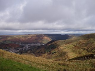 Rhondda Valley from Bwlch Mountain