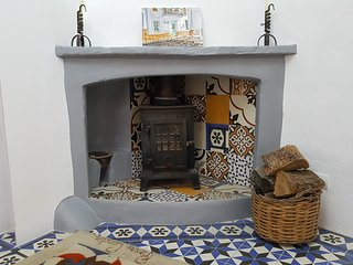 Wood burner.