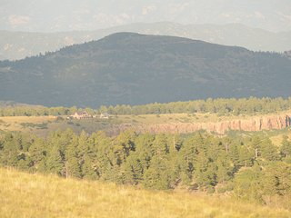 Distant view of Soaring Eagle - high in the Rocky Mountains
