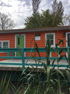 fun and funky island orange decor!