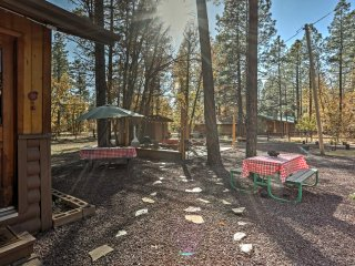 NEW! Cozy 1BR Pinetop Cabin in Woodland Lake Park!