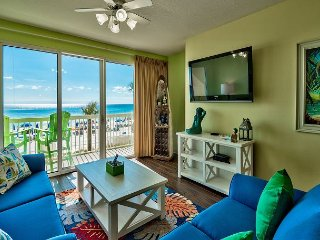 1st Floor-3 BR/2 BA W/ Bunk Room- Quiet End of the Beach- Gulf Front Master!