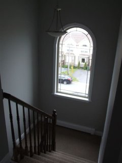 view from upstairs hall window