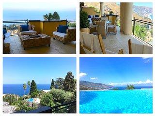 PANORAMIC SEA VIEW RESIDENCE con Piscina +Terraza  Taormina