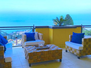PANORAMIC RESIDENCE with Pool + Sea View Terrace Taormina
