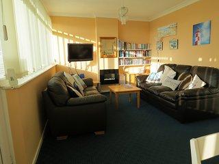 Bright living area.