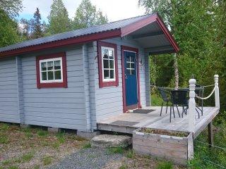 Fjallstuga for familjer i Svenska Lappland