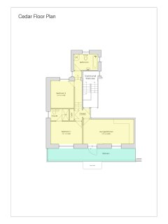 Floor plan for Cedar, a newly renovated and spacious apartment