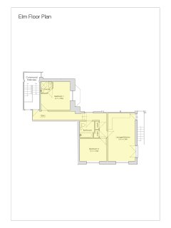 Floor plan for Elm, a newly renovated and spacious apartment
