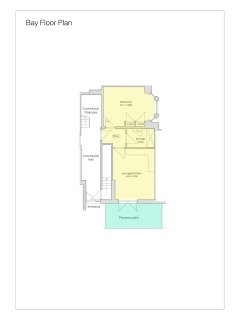 Floor plan for Bay, a newly renovated and spacious apartment