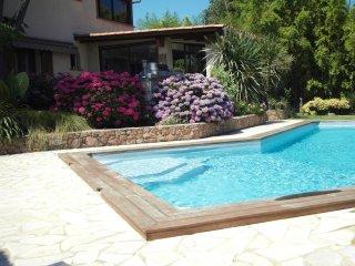 Villa de caractere piscine et spa prive terrasse de 30 m2 pool house couvert
