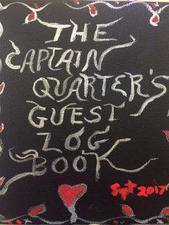 The Captains Quarters Guest Book
