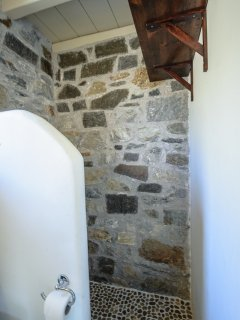...with the stone built shower.