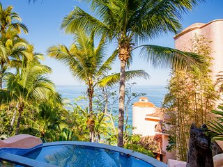 Luxury Oceanfront Villa. This is your view as you enter the property.