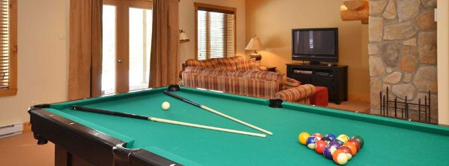 Play a round of pool in the entertainment room.