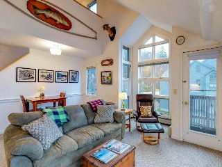 Ski-in/ski-out of this condo w/ shared pool & sauna at the foot of Pico Mountain
