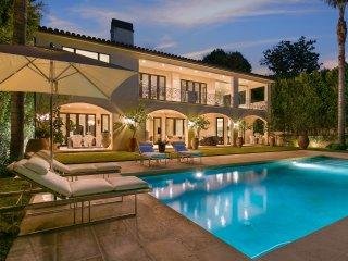 Luxury Beverly Hills Spanish-style Estate with Gorgeous Yard, Pool, and Hot Tub