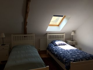 Comfortable gîte, one of three . Lots of pet animals. Private pool Nov - April.