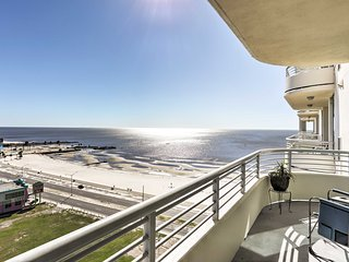 NEW! Beachfront 2BR Biloxi Condo w/ Ocean Views!