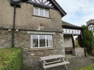 BISHOP HOW, stone-built cottage, three bedrooms, country views, walks from the d
