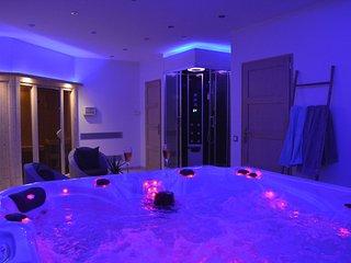 L'Échappée Z'Aisne, gîte avec espace bien être privatif, spa et sauna