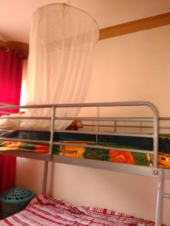 2nd room with a bunk bed can be used by families with children comes with built in wardrope