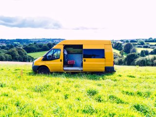 Bumblebee, handmade campervan hire from Quirky Campers