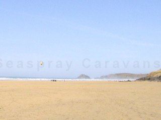 Willerby Rio Caravan at Haven Perran Sands, Perranporth, Cornwall. 3 mile beach