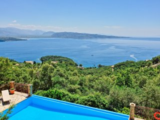 A charming family villa, with large pool and stunning views over Kerasia beach