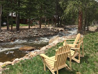 The Middle St. Vrain River Just steps outside the cabin