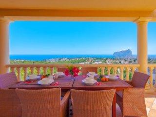 Villa Vistas en Calp,Alicante,para 12 huespedes