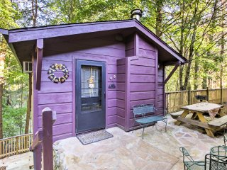 NEW! Secluded Sevierville Studio w/Deck & Fishing!