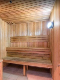 Sweat it out in the sauna!