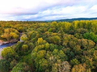 Aerial view of the River Nairn