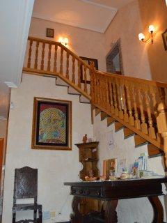 Escalera acceso a habitaciones