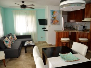 ARENAS DE BAVARO B-202, 2 BR, COMMON POOL & BBQ!