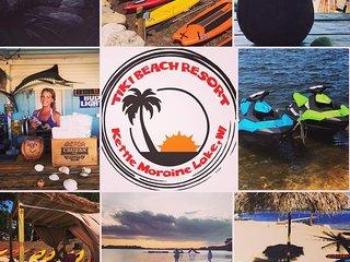 Beachfront, Waterfront Tiki Beach Resort, Condo, Campground, Cabins, Watersport