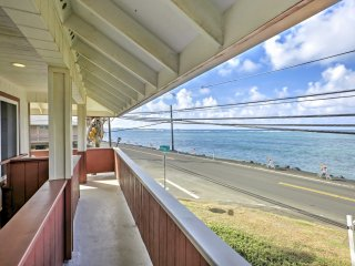 Oceanfront Hauula Home w/Beach Gear & Amazing View