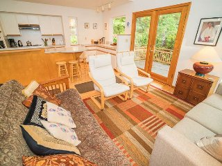 Fantastic Sunlit Forest Beauty Has Two Living Spaces for Family and Friends!