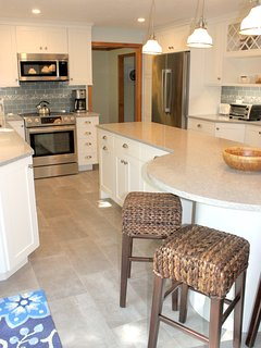 All new stainless steel appliances.