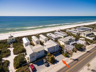 'Sisters Three by the Sea' is located on 30A steps to Seaside! Gulf Views!
