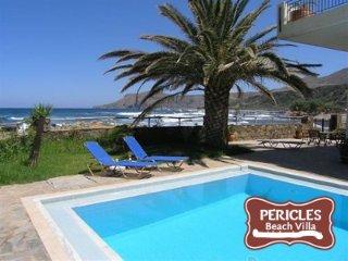 Pericles beach villa !!Beach Front Villa ,Private pool,Crete!!!